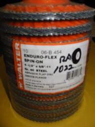 """WALTER FLAP DISCS 4.5""""x5/8""""-11 - QTY OF 10 - 06-B-454"""