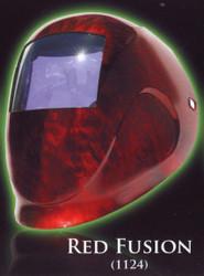 Python Red Fusion Auto-Dark Welding Helmet-Var SH9-13