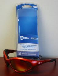 Miller Genuine Arc Armor Safety Glasses Shade 5.0 Orange Frame - 235659