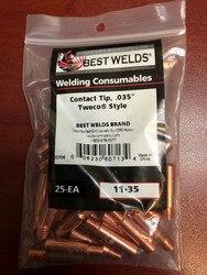 Best Welds Contact Tips .035 STD Duty 11-35 (Bag of 25)