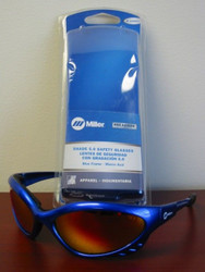 Miller Genuine Arc Armor Safety Glasses Shade 5.0 Blue Frame - 235657