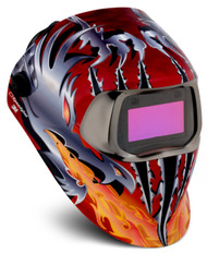 3M SPEEDGLAS 100V  VARIABLE WELDING HELMET - RAZOR DRAGON  07-0012-31RD