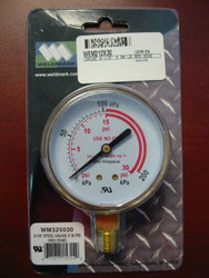 WELDMARK REPLACEMENT PRESSURE GAUGE - 30PSI - 2.5""