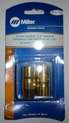 "MILLER 169715 FLUSH NOZZLE 1/2"" ORIFICE - QTY 2"