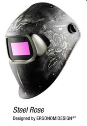 3M SPEEDGLAS 100V  VARIABLE WELDING HELMET - STEEL ROSE  07-0012-31SR