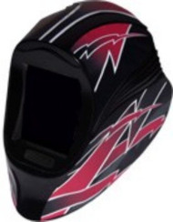 Viper 5x4 Red Lightning Welding Helmet -  Shade 10