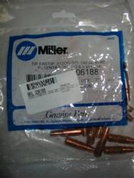 MILLER 206188 CONTACT TIP .312OD  .045  .040 AL - QTY25