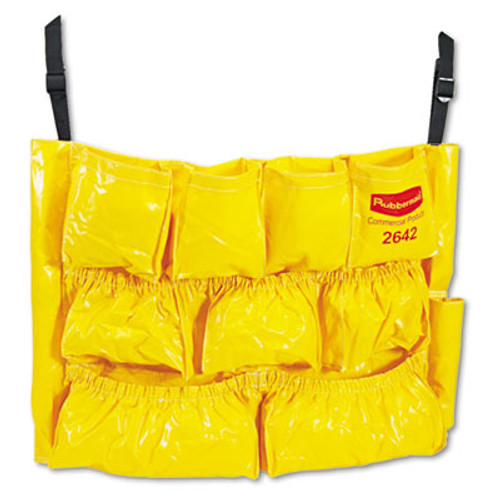 Rubbermaid Commercial Brute Caddy Bag, 12 Pockets, Yellow (RCP 2642 YEL)