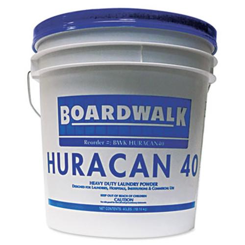Boardwalk Low Suds Laundry Detergent, Economical, Powder, Fresh Lemon Scent, 40lb Pail (BWK HURACAN40)