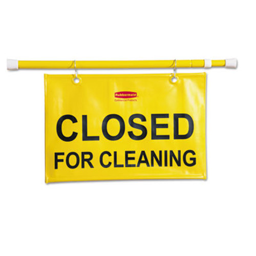 Rubbermaid Commercial Site Safety Hanging Sign, 50w x 1d x 13h, Yellow (RCP 9S15 YEL)