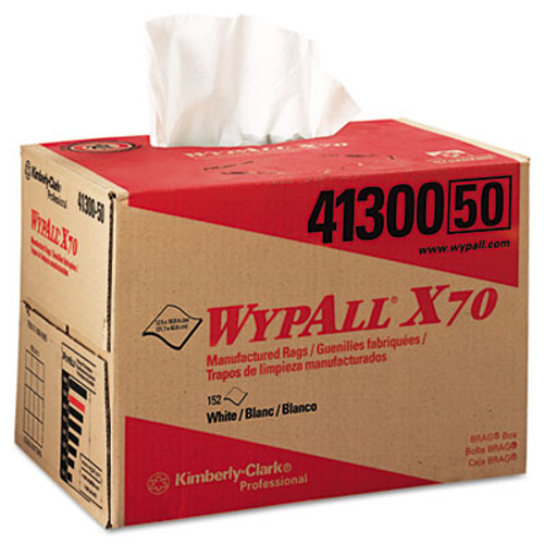 WypAll* X70 Wipers, BRAG Box, 12 1/2 x 16 4/5, White, 152/Carton (KCC 41300)