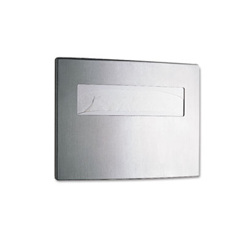 Bobrick Toilet Seat Cover Dispenser, 15 3/4 x 2 1/4 x 11 1/4, Satin Stainless Steel (BOB 4221)