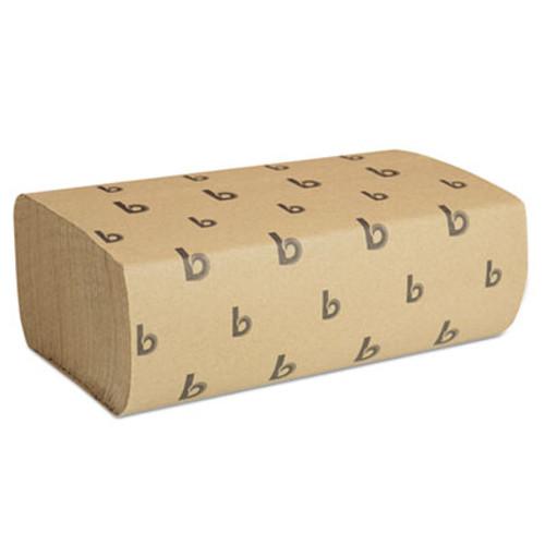 Boardwalk Multifold Paper Towels, Natural, 9 x 9 9/20, 250/Pack, 16 Packs/Carton (BWK 6202)