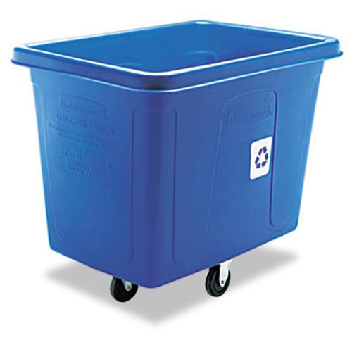 Rubbermaid Commercial Recycling Cube Truck, Rectangular, Polyethylene, 500lb Cap, Blue (RCP 4616-73 BLU)