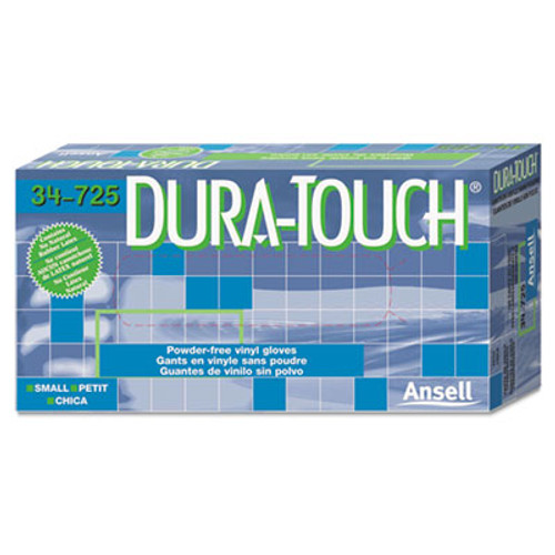 AnsellPro Dura-Touch 5 mil PVC Disposable Gloves, Small, Clear, 100/Box (ANS 34725S)