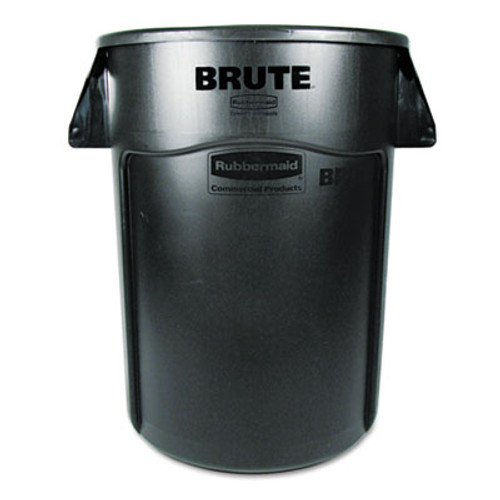 Rubbermaid Commercial Brute Vented Trash Receptacle, Round, 44 gal, Black (RCP 2643-60 BLA)