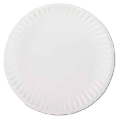 "AJM Packaging Corporation White Paper Plates, 9"" Diameter, 100/Bag, 10 Bags/Carton (AJM PP9GREWH)"