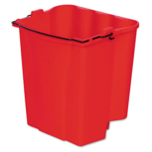 Rubbermaid Commercial Dirty Water Bucket for Wavebrake Bucket/Wringer, 18qt, Red (RCP 9C74 RED)