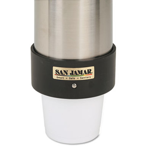 San Jamar Large Water Cup Dispenser w/Removable Cap, Wall Mounted, Stainless Steel (SAN C3400P)