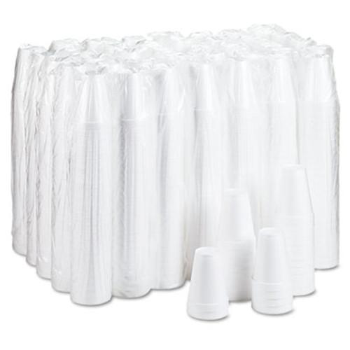 Dart Foam Drink Cups, 12oz, White, 25/Bag, 40 Bags/Carton (DCC 12J12)