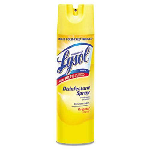 Professional LYSOL Brand Disinfectant Spray, Original Scent, 19 oz Aerosol, 12 Cans/Carton (REC 04650)