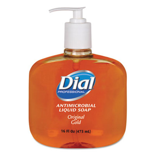 Dial Professional Gold Antimicrobial Hand Soap, Floral Fragrance, 16oz Pump Bottle, 12/Carton (DIA 80790)