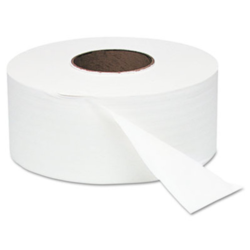 "Windsoft White Jumbo Roll One-Ply Bath Tissue, 9"" dia, 2000ft, 12 Rolls/Carton (WIN 200)"