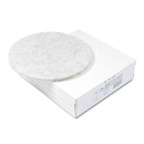 Boardwalk Ultra High-Speed Floor Pads, Natural Hair/Polyester, 20-Inch Diameter, 5/Carton (PAD 4020 NAT)
