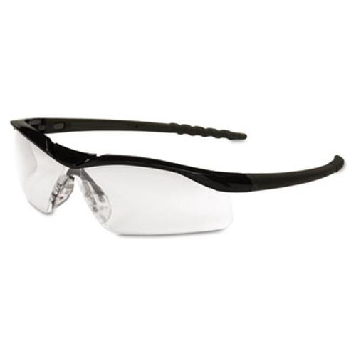 Crews Dallas Wraparound Safety Glasses, Black Frame, Clear Lens (MCR DL110)