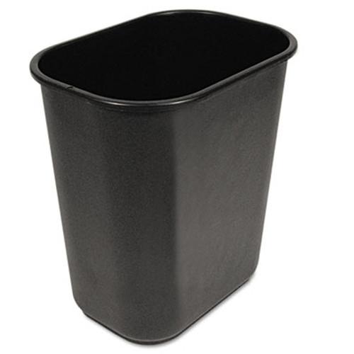 Boardwalk Soft-Sided Wastebasket, 28qt, Black (UNS 28QTWB BLA)