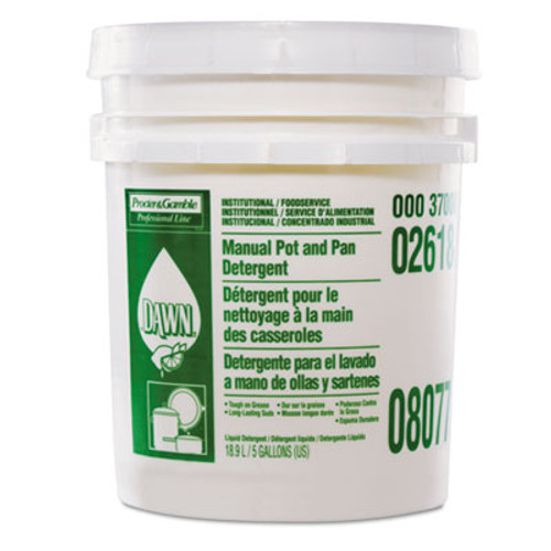 Dawn Professional Manual Pot & Pan Dish Detergent, Lemon Scent, Liquid, 5 gal. Pail (PGC 02618)