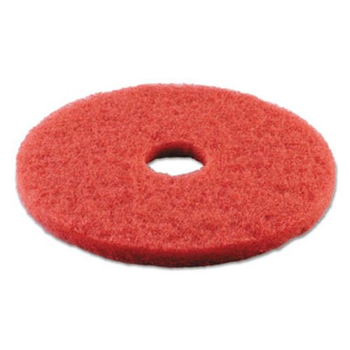 Boardwalk Standard 14-Inch Diameter Buffing Floor Pads, Red (PAD 4014 RED)