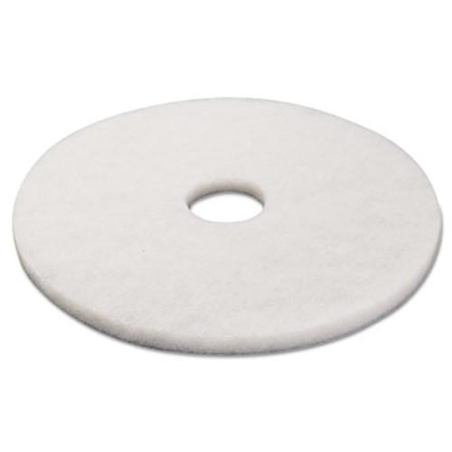 Boardwalk Standard 17-Inch Diameter Polishing Floor Pads, White (PAD 4017 WHI)