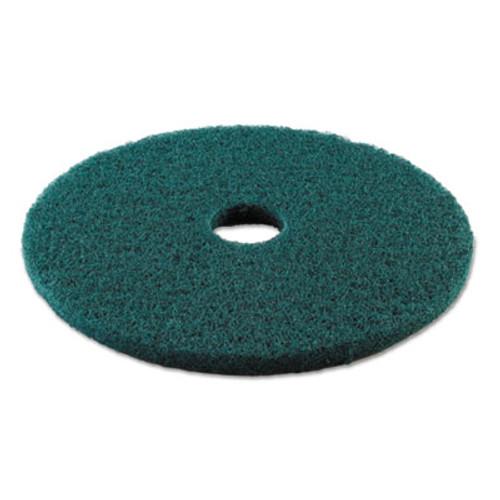 Boardwalk Standard 19-Inch Diameter Heavy-Duty Scrubbing Floor Pads, Green (PAD 4019 GRE)