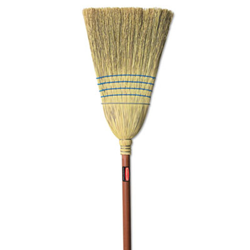 Rubbermaid Commercial Warehouse Corn-Fill Broom, 38-in Handle, Blue (RCP 6383)