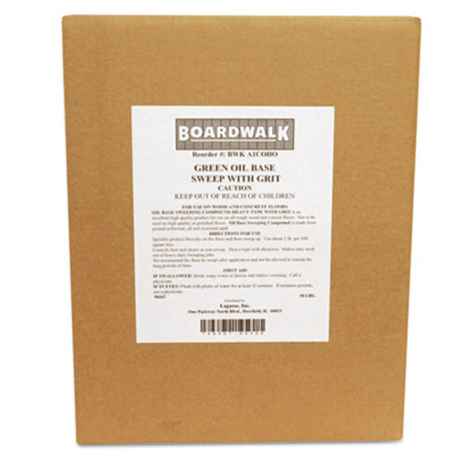 Boardwalk Oil-Based Sweeping Compound, Grit, Green, 50lbs, Box (BWK A1COHO)
