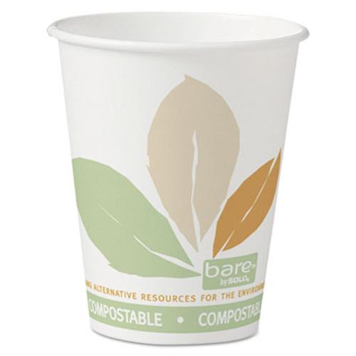 SOLO Cup Company Bare Eco-Forward Paper Hot Cups, 8 oz., Bare Design, 50/Bag, 20 Bags/Carton (SCC 378PLA-BB)