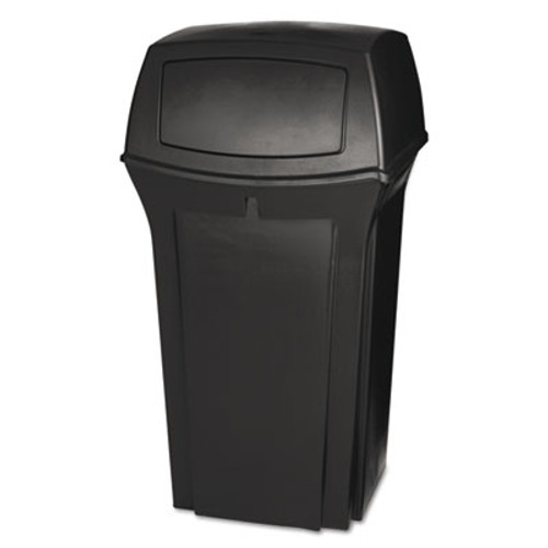 Rubbermaid Commercial Ranger Fire-Safe Container, Square, Structural Foam, 35 gal, Brown (RCP 8430-88 BRO)