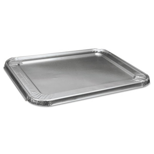 Boardwalk Half Size Steam Table Pan Lid For Deep Pans, Aluminum, 100/Case (BWK LIDSTEAMHF)