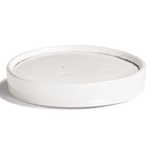 Chinet Vented Paper Lids, 8-16oz Cups, White, 25/Sleeve, 40 Sleeves/Carton (HUH 71870)