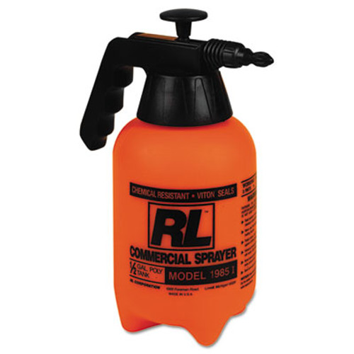 R. L. Flomaster Hand Sprayer with Adjustable Nozzle, Polyethylene, 64 oz, Black/White (RLF 1985LG)