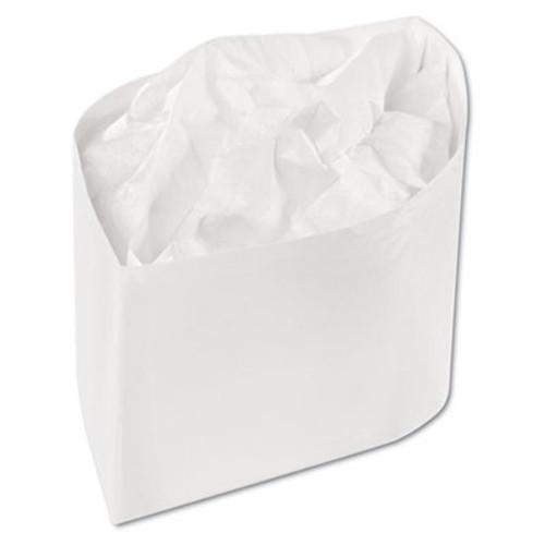 Royal Classy Cap, Crepe Paper, White, Adjustable, One Size, 100 Caps/Pk, 10 Pks/Carton (RPP RCC2W)