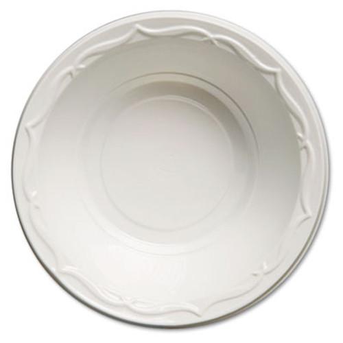 Genpak Aristocrat Plastic Bowls, 12 Ounces, White, Round, 125/Pack, 8 Packs/CT (GNP 72100)