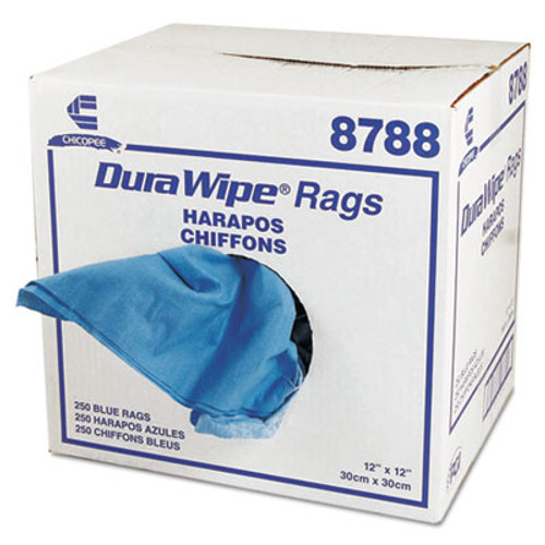 Chix DuraWipe General Purpose Towels, 12 x 12, Blue, 250/Carton (CHI 8788)