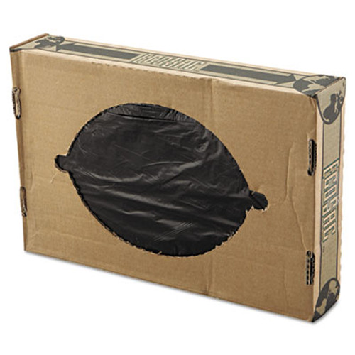 FlexSol Linear Low-Density Ecosac, 38 x 60, 55-Gallon, 0.82 Mil, Black, 100/Carton (ESS ECO60H)