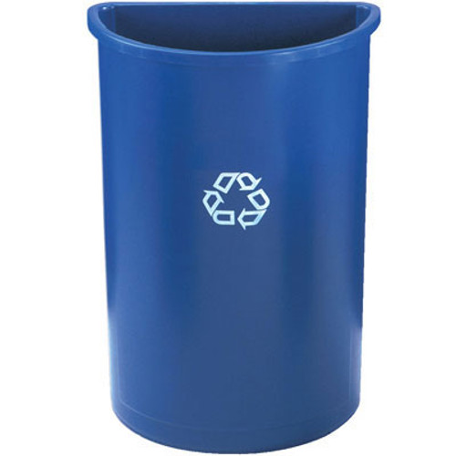 Rubbermaid Commercial Half-Round Recycling Container, Plastic, 21 gal, Blue (RCP 3520-73 BLU)