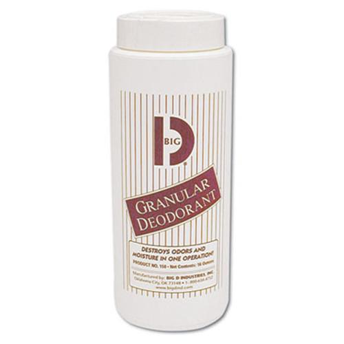Big D Industries Granular Deodorant, Lemon, 16oz, Shaker Can, 12/Carton (BGD 150)