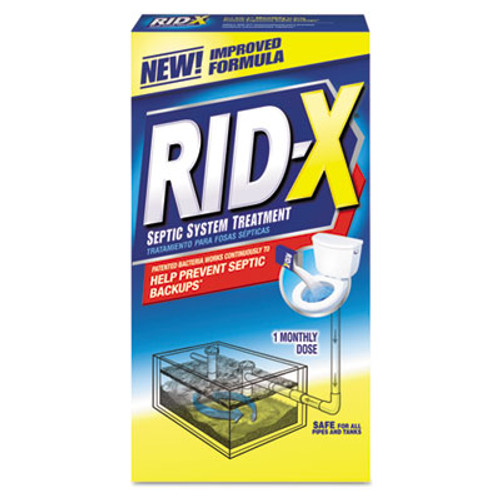 RID-X Rid-X Septic System Treatment, Concentrated Powder, 9.8 oz. Box (REC 80306)