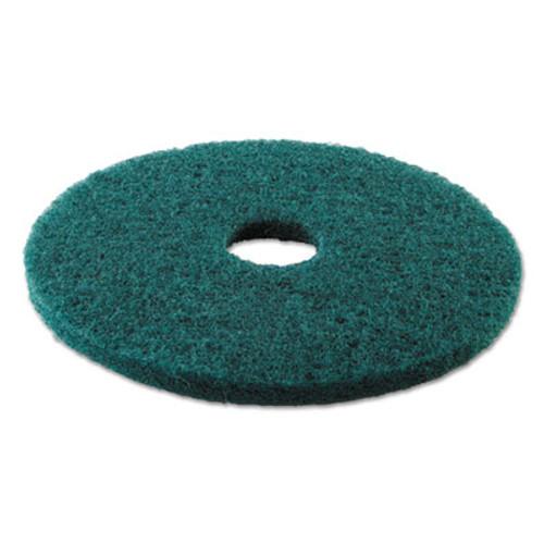 Boardwalk Standard 17-Inch Diameter Heavy-Duty Scrubbing Floor Pads, Green (PAD 4017 GRE)