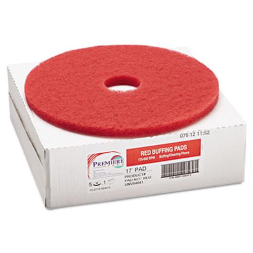 Boardwalk Standard 17-Inch Diameter Buffing Floor Pads, Red (PAD 4017 RED)